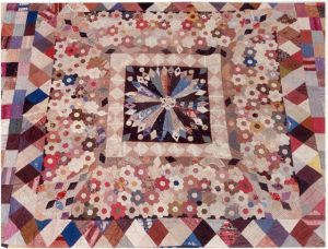 The Bronte Sister's Quilt c1830-1840 In the collection of Haworth Parsonage, West Yorkshire.